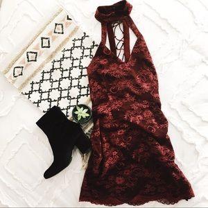 NWOT TOBI Plum Dress